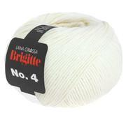 Lana Grossa Brigitte NO.4 001 Kleur: Ruw Wit