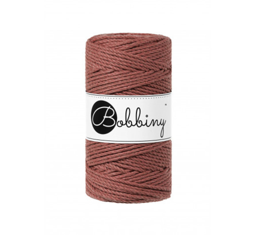 Bobbiny Macrame Triple Twist 3mm Sunset