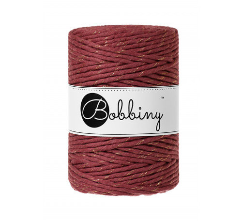 Bobbiny Bobbiny Macrame cord 5mm Golden Wild Rose