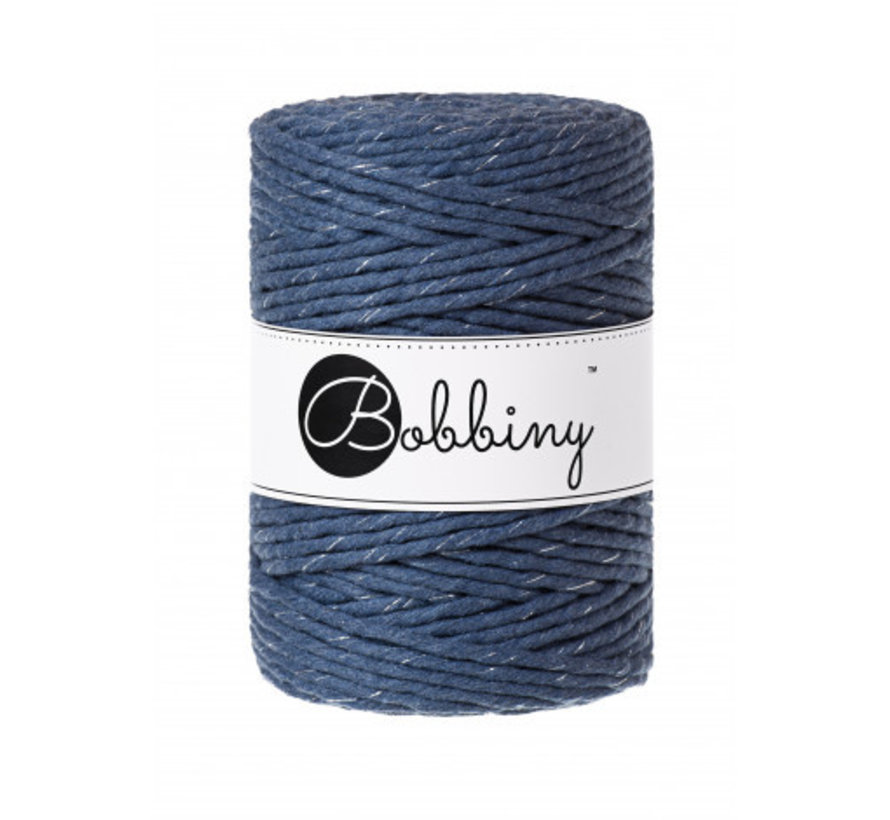 Bobbiny Macrame cord 5mm Silvery Jeans