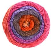 Lana Grossa Gomitolo Aloha 307 Kleur: Nachtblauw-Blauwviolet-Cyclaam-Bordeaux-Bruinoranje-Boodbruin-Roze