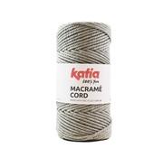 Katia Katia Macrame Cord Twisted 5mm 102 Kleur: Lichtgrijs