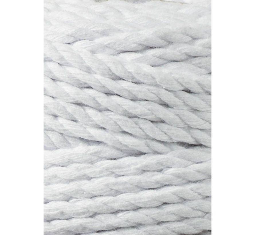 Bobbiny Macramé Triple Twist 5mm White