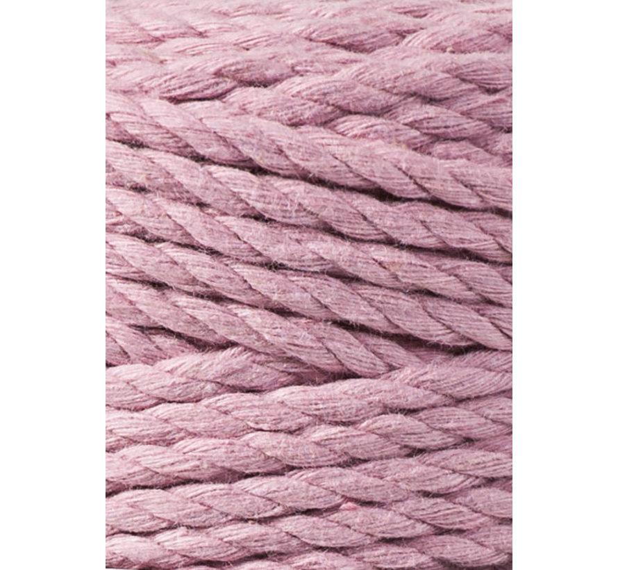 Bobbiny Macramé Triple Twist 5mm Dusty Pink