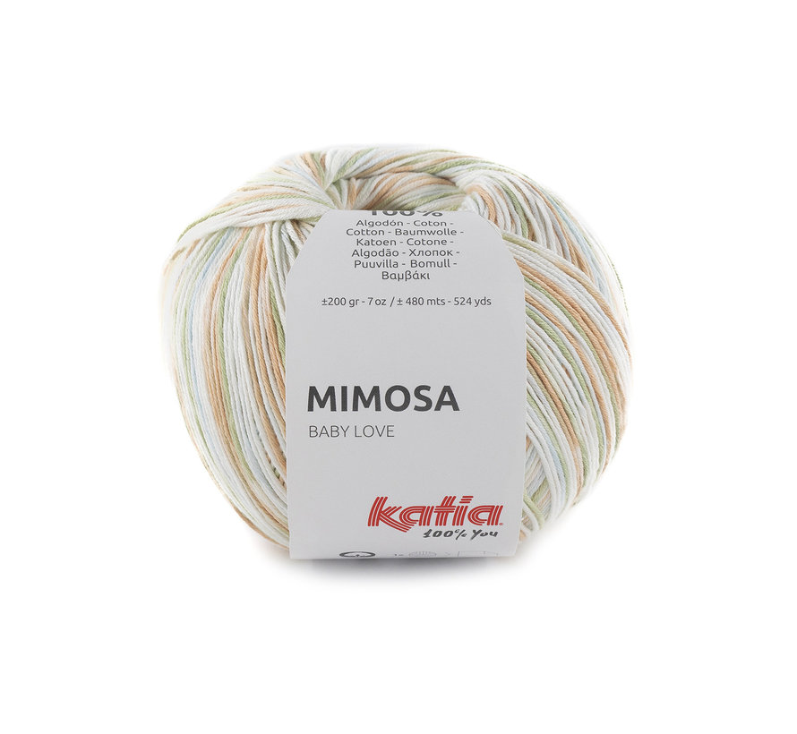 Katia Mimosa 303 Kleur: Kaki-Honinggeel-Blauw