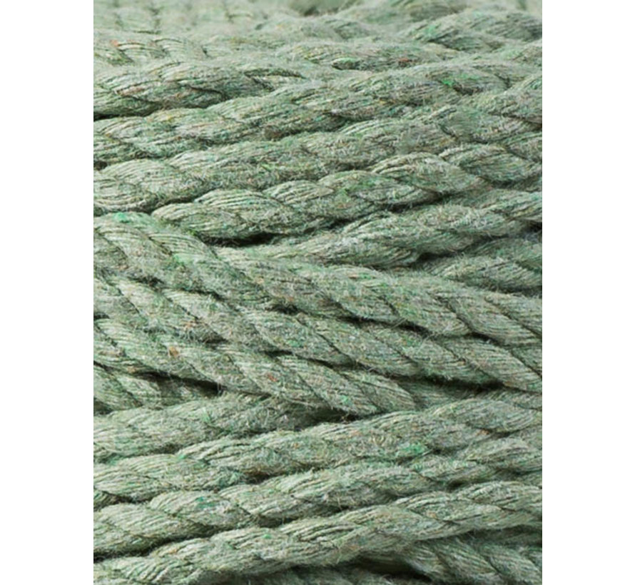 Bobbiny Macramé Triple Twist 5mm Eucalyptus Green