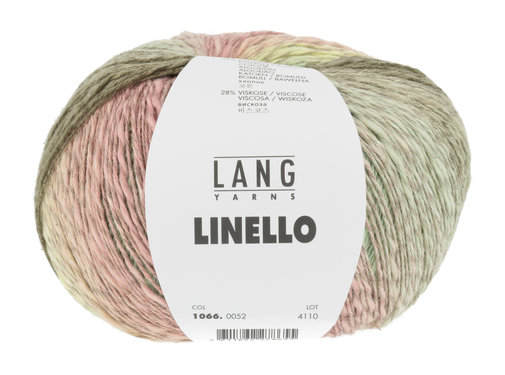 Lang Yarns Linello 052 Kleur: Groen-Roze