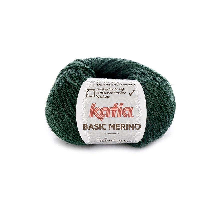 Basic Merino nr.15 Kleur: Zeer Donker Groen