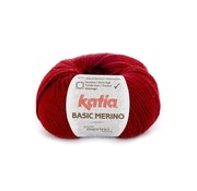 Katia Basic Merino nr.22 Kleur: Wijnrood