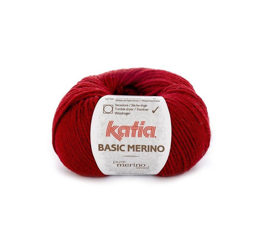 Basic Merino nr.22 Kleur: Wijnrood