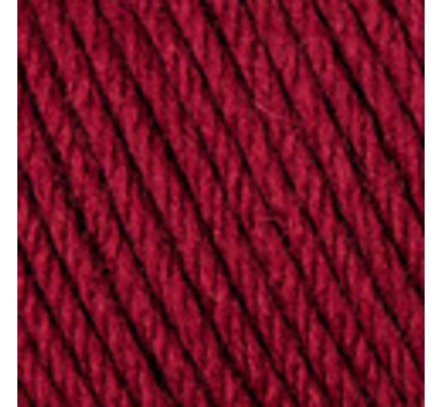 Basic Merino nr.23 Kleur: Donker Wijnrood