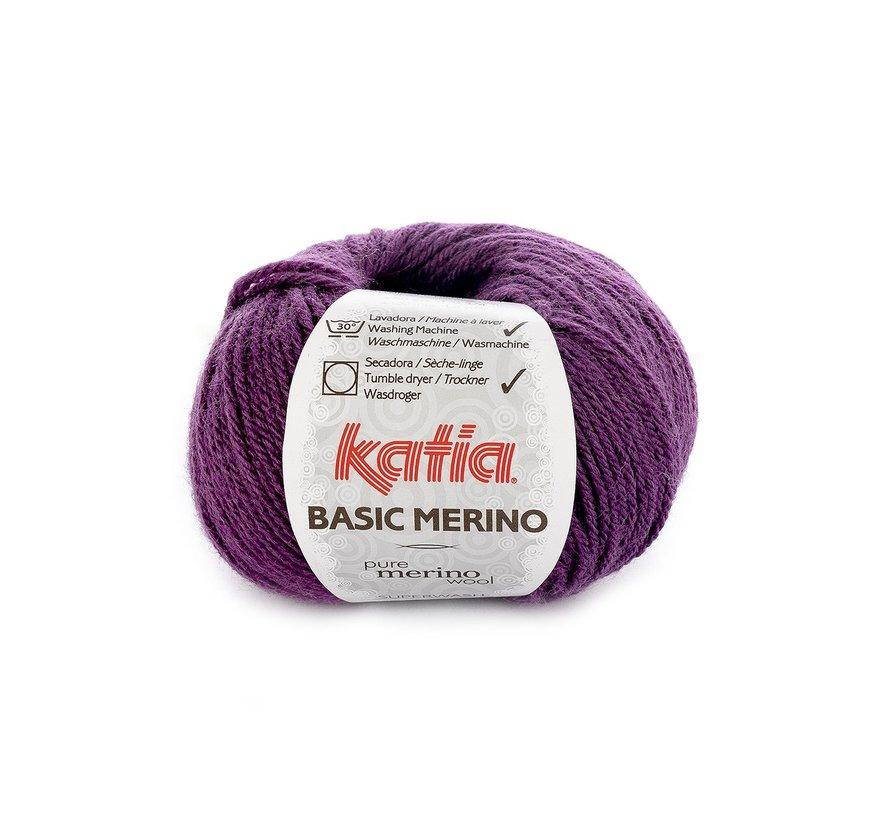 Basic Merino nr.28 Kleur: Donker Lila