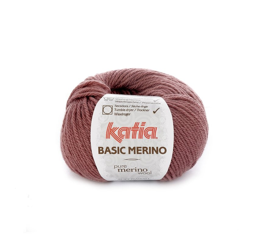 Basic Merino nr.74 Kleur: Donker Roze