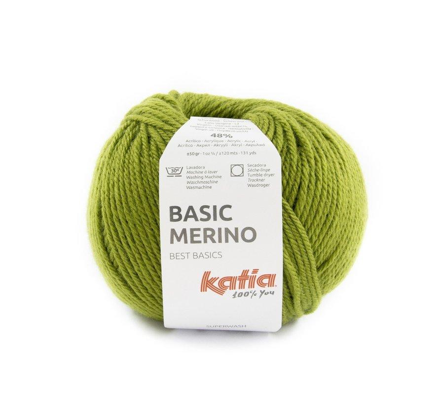 Basic Merino nr.90 Kleur: Kaki Groen