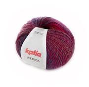 Katia Azteca nr.7847 Kleur: Wijnrood-Donker fuchsia-Blauw