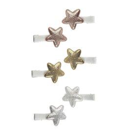 Mimi & Lula Baby clip metallic sterren (6st)