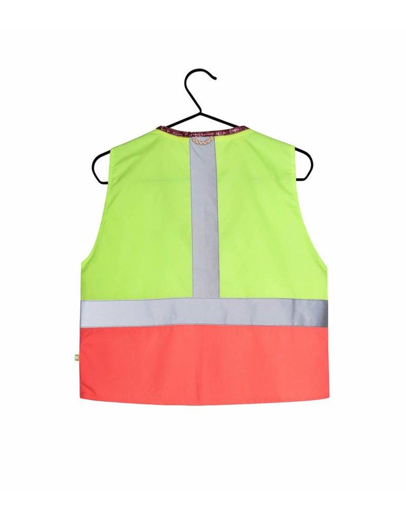 Gofluo Fluo geel/roze glitter
