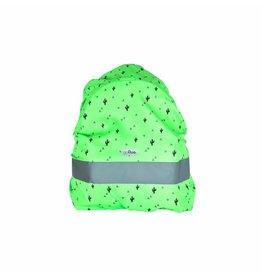 Gofluo Rugzakhoes groen cactus/driehoek