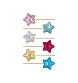 Mimi & Lula Schuifspeldjes sterren metallic (6st)