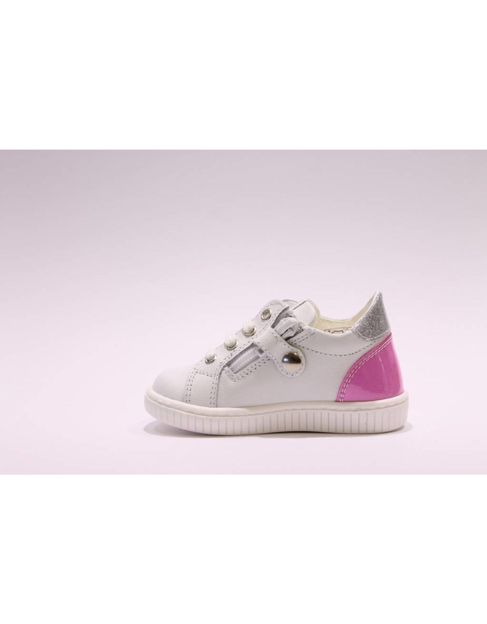 Walkey sneaker wit/fuchsia