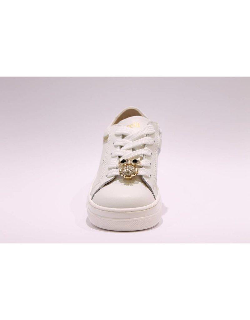 Andrea Morelli sneaker wit/goud glitter