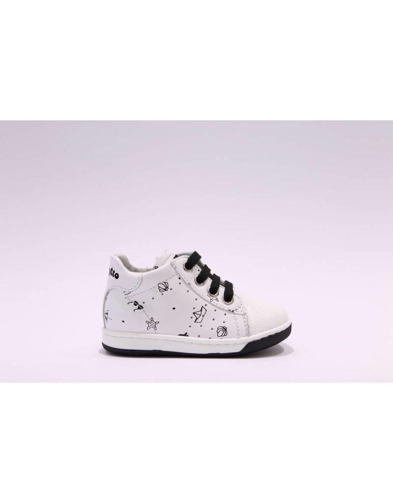 Falcotto Sneaker picto wit/zwart