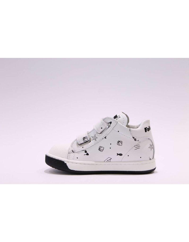 Naturino sneaker velcro picto wit/zwart