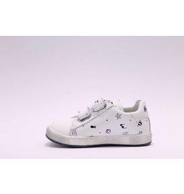 Naturino sneaker velcro picto wit/blauw