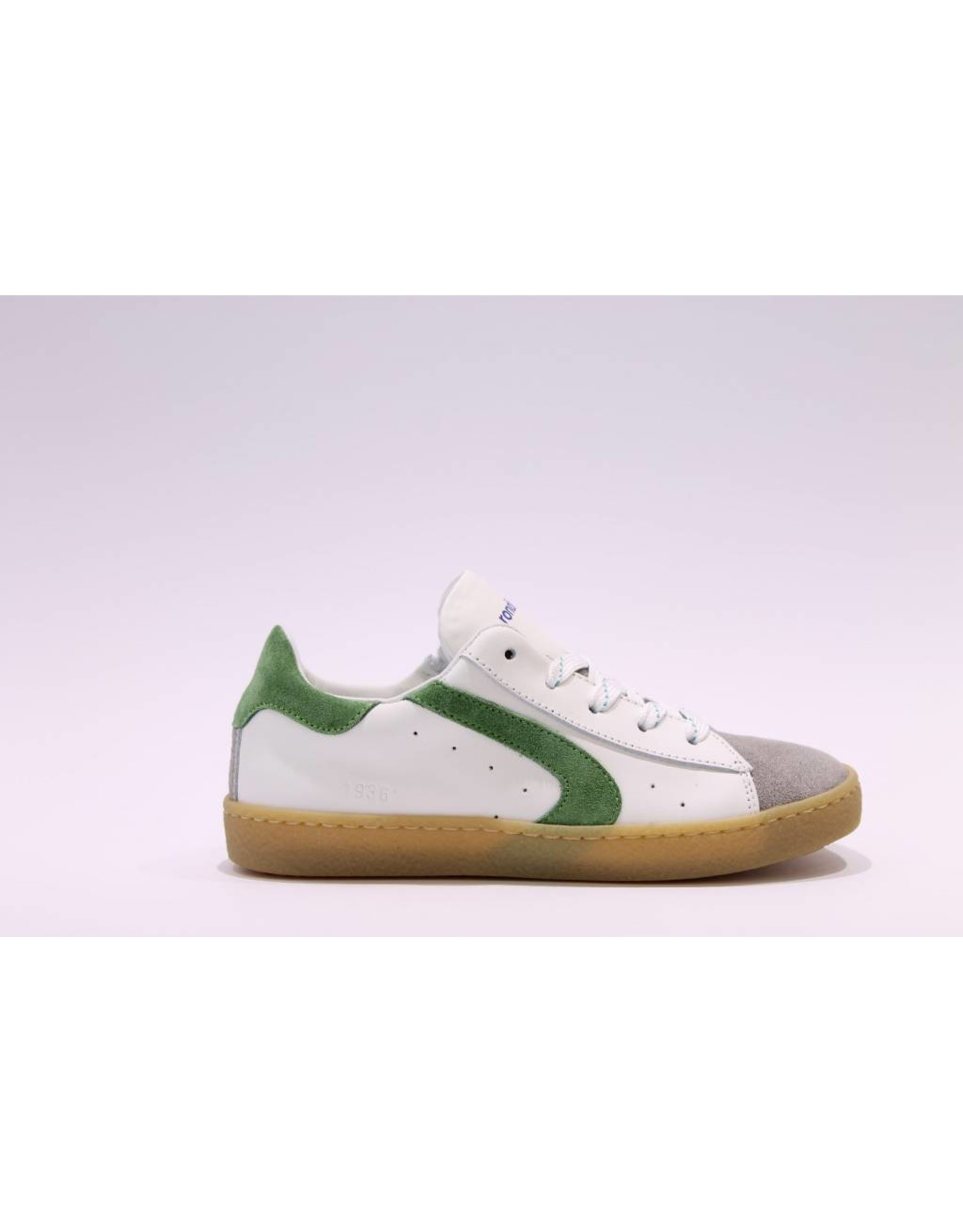 Rondinella sneaker 1936 laag wit/groen