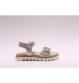 sho.e.b. sandaal zilver glitter
