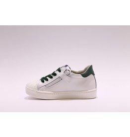 sho.e.b. sneaker laag 76 wit/groen
