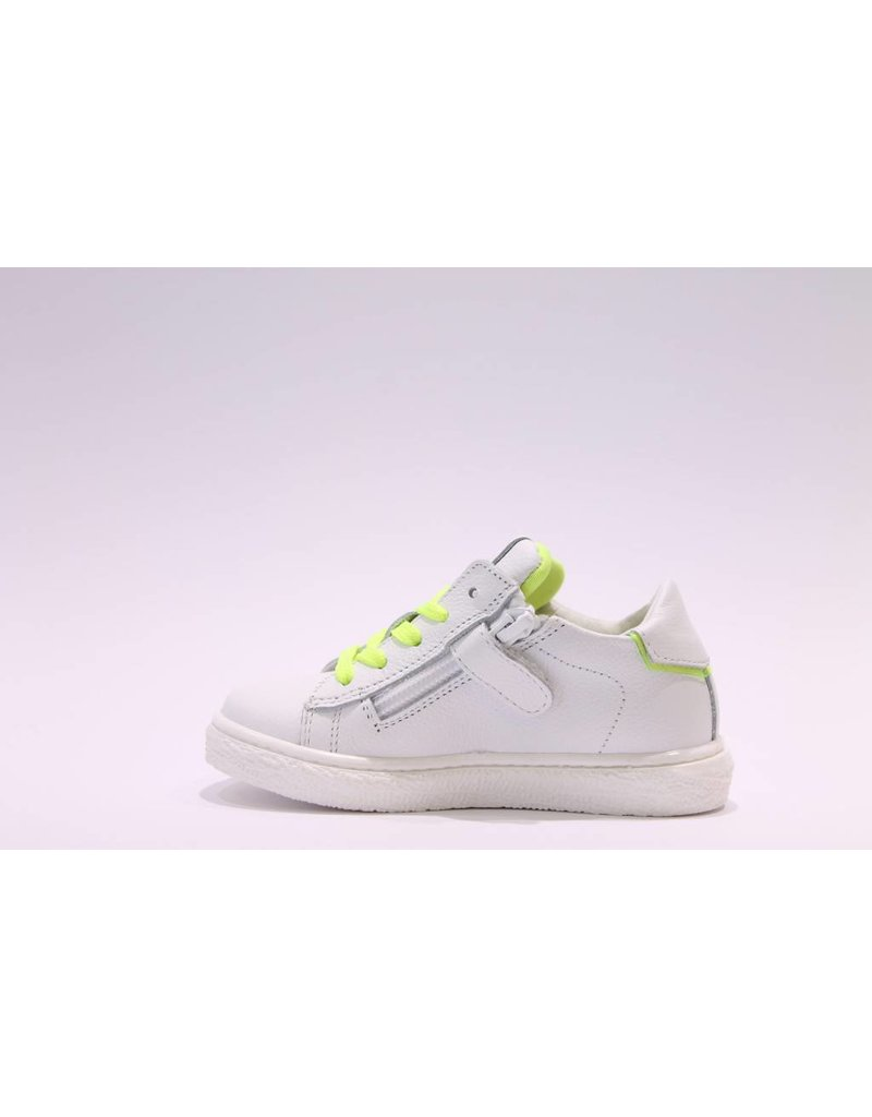 Andrea Morelli sneaker wit/fluo