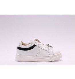 Andrea Morelli sneaker wit/zwart glitter