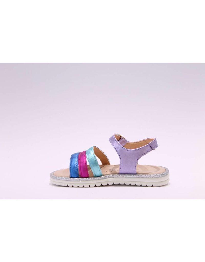 Clarys sandaal lila/fuchsia/blauw/groen