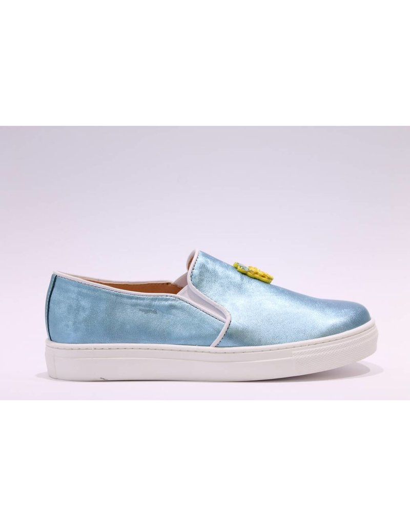 Clarys loafer blauw ananas/banaan