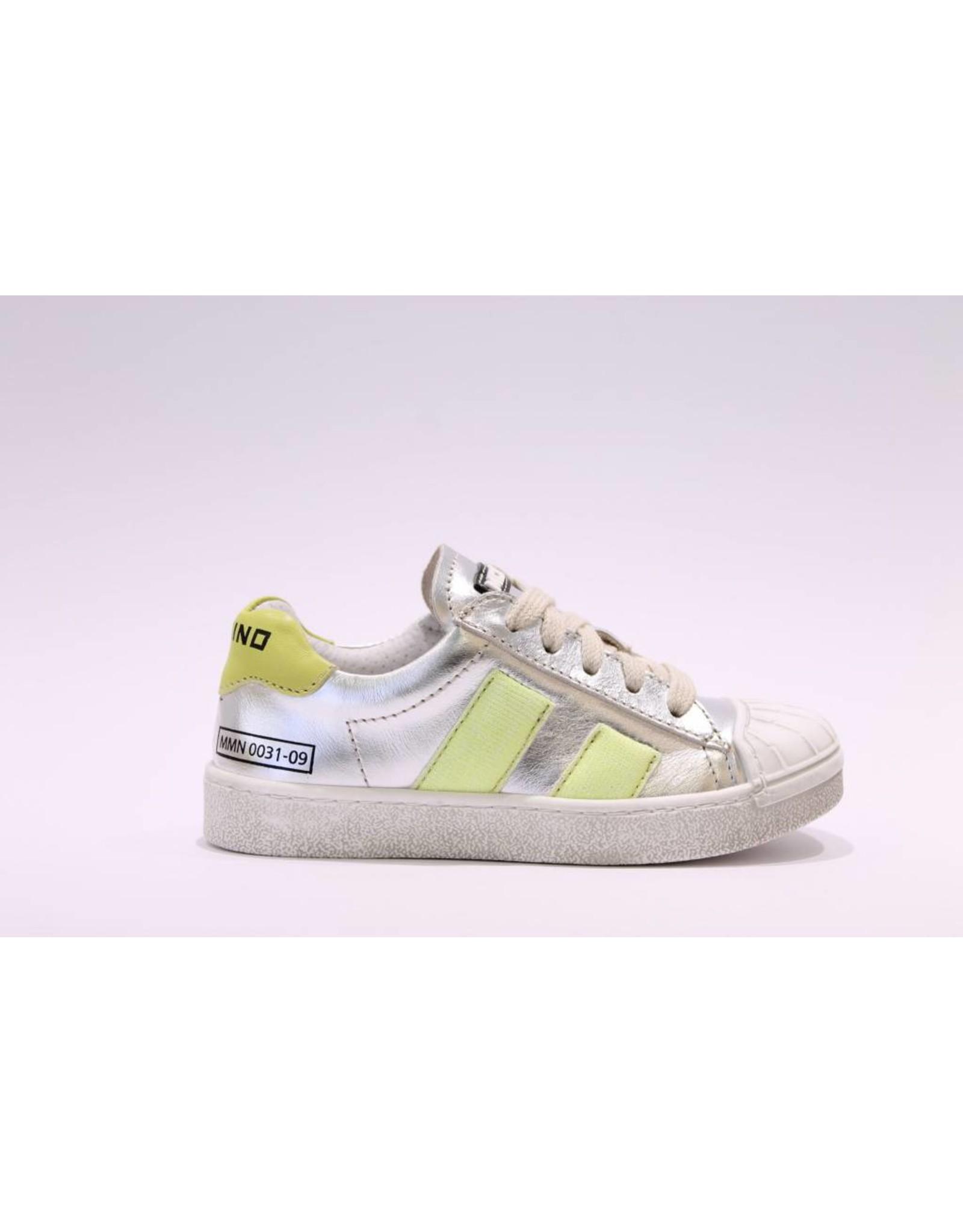 Momino sneaker zilver/geel glitter