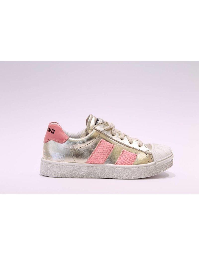 Momino sneaker goud/fuchsia glitter