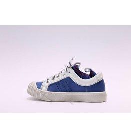 Momino sneaker blauw rood/sokje