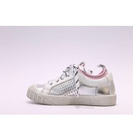 Momino sneaker zilver roze/sokje