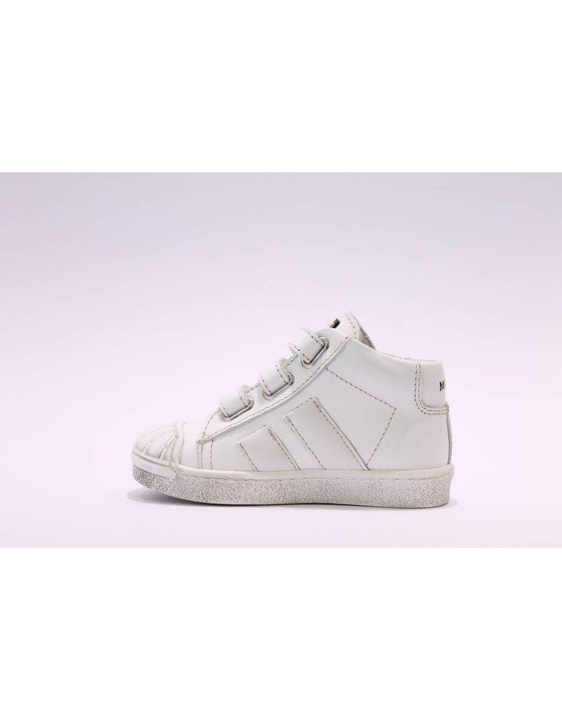 Momino sneaker hoog wit/wit velcro