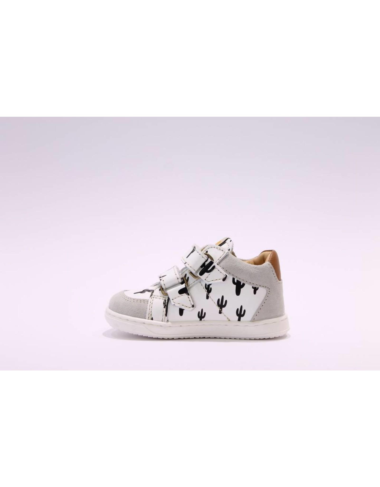 Ocra sneaker velcro zwart cactus/wit