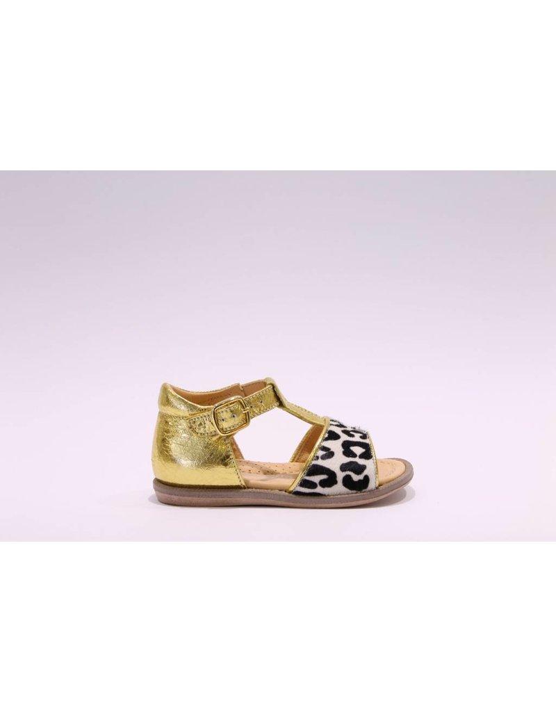 Rondinella Sandaal geel/leopard