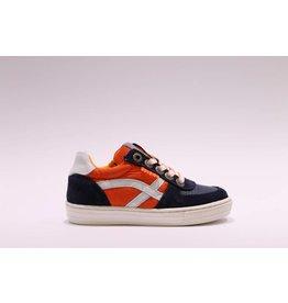 Develab sneaker blauw/oranje