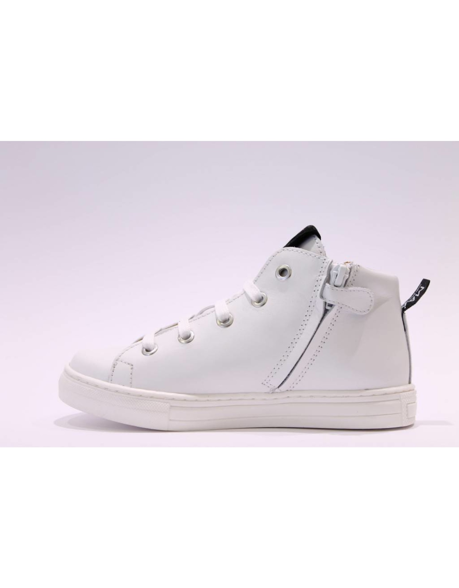 MAÁ sneaker hoog wit/zwart