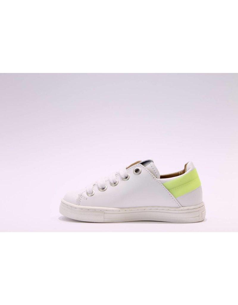 MAÁ Sneaker laag wit/geel