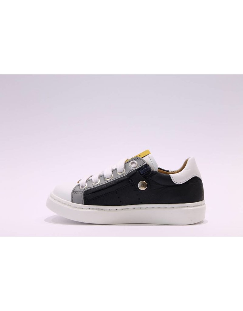 MAÁ Sneaker laag wit/grijs/blauw
