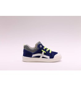 Develab sneaker blauw/geel