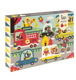 Petit Monkey puzzel 'on the road' 3+