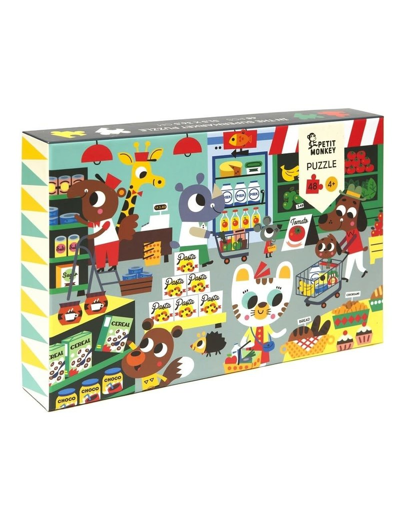 Petit Monkey puzzel 'in the supermarket' 4+