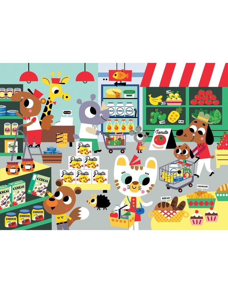 Petit Monkey puzzel 'in the supermarket' 4+